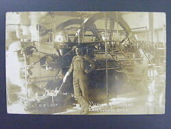 East Sparta Ohio Oh Interior Pumping Station Real Photo Postcard Rppc 1912
