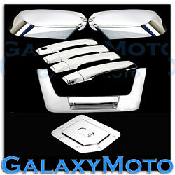 Chrome Mirror+4 Door Handle W/o Psg Kh+tailgate+gas Cover For 04-12 Nissan Titan