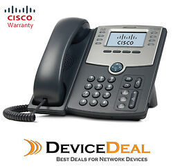 Cisco Spa508g 8-line Ip Phone 2-port Switch Poe And Lcd Display