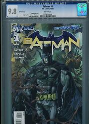 Batman 1 New 52 Variant Cover Cgc 9.8 White Pages
