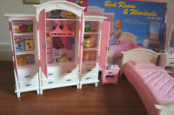 New Gloria Doll House Furniture Bedroom And Wardrobe Playset 24014