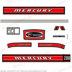 Mercury 1968 20hp Outboard Decal Kit - Reproduction Decals In Stock