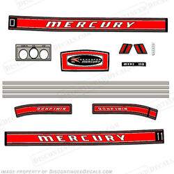 Mercury 1968 9.8hp Outboard Decal Kit - Reproduction Decals In Stock