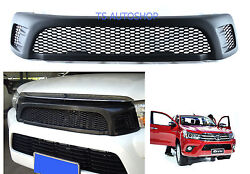 Matte Black Front Grill Grille For Toyota Hilux Revo Sr5 M70 M80 4x4 2015-on