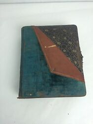 Antique 1800s Photo Album W/ Cabinet Photos And Tintypes Family Ny And Dc Brass Lock