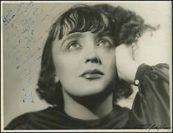 Edith Piaf Song Early Signed Photo To Reda Claire