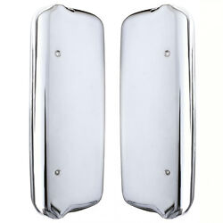 2005+ Freightliner Century/columbia Mirror Covers - Chrome - Driver And Passenger