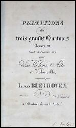 Beethoven Composer Bound Collection Of Middle String Quartets - First Edns.