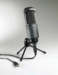 Audio-Technica AT2020USB+ Cardioid Condenser USB Microphone New From Japan
