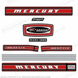 Mercury 1968 100hp Outboard Decal Kit - Reproduction Decals In Stock