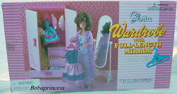 New Gloria Doll House Furniture Wardrobe With Full Length Mirror 9509