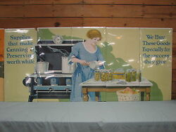 1930's General Store Display Home Canning Ads Like Winchester 5 Panel Posters