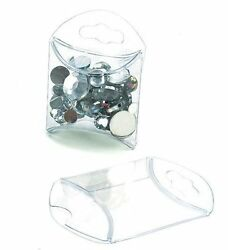 25 Clear Plastic Tiny Pillow Boxes 1 3/4 X 3/4 X 1 3/4 Inches Retail And Gifts
