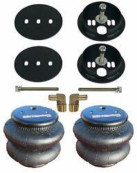 Air Ride Rear Bolt On Brackets And 2600 Bags 1/2 Fittings For 1963-72 Chevy C10