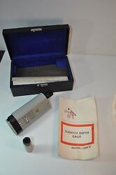 Vintage Nice Bausch And Lomb Scratch Depth Gage Machinist - 33-19-14 W/ Case