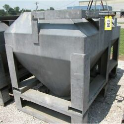 32 Cubic Foot Used Tote Bin With Bray Butterfly Valve