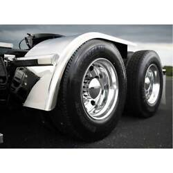 Semi Truck 60 Half Fender W Rolled Edge And Flange Stainless Steel Smooth Pair