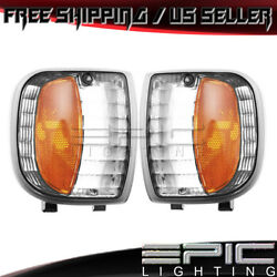 Park Signal Lights for 1994-1997 MAZDA TRUCK B2300 B3000 B4000 - Left Right Pair