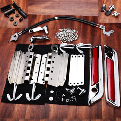 Stainless Touch Saddlebag Latch Hardware Kit Andcover For Harley Touring 14-later