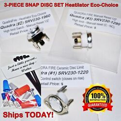 Heatilator Eco-choice 3-piece Snap Disc Switch Ps35 Ps50 Cab50 Ships Today