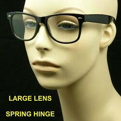Reading glasses large lens spring hinge men women retro vintage power new $6.49
