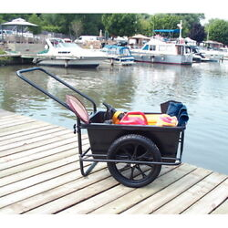Icart Dock Cart With Pneumatic Wheels - Removable Tub - 300 Lbs Capacity