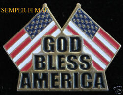 God Bless America Jewelry Hat Pin Usa Flag 911 Ny Us Army Navy Air Force Marines