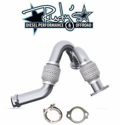 Mbrp Heavy Duty Up Pipes W/ Exhaust Clamp And Gasket For 2003-2007 Ford 6.0l