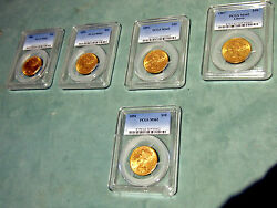 Ms62 -pcgs 10 Liberty Gold Coins Different Yearsprice Is For 1 Coin Only