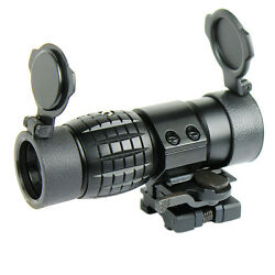 3x Magnifier Scope With Fts Flip To Side Mount For Holographic And Reflex Sights