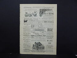 Illustrated London News Ads One Double-sided Page C1887 S217 Hop Bitters