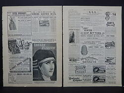 Illustrated London News Ads Two Pages C.1888 S32 Electric Belts, Hop Bitters