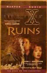 The X-files Ruins 2 Cassette Audiobook By Kevin J Anderson And Mitch Pileggi