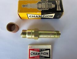 Champion Aircraft Engine Spark Plug - Gold - Part Ef-15 - New - Collector Box