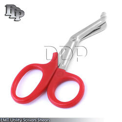 100 Pieces Emt Utility Scissors Shears 5.5 Red Colored