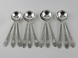 Lunt Mary II 2 Sterling Silver Bouillon Soup Spoons - Set of 12 - 5 3/8