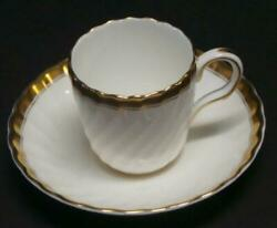 Set Of 7 Minton Bone China Demitasse Cup And Saucers Gold Rims