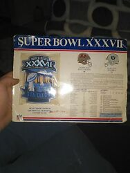 Super Bowl 37 Tampa Bay Buccaneers V.s Oakland Raiders Poster And Patch.
