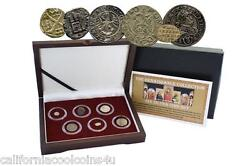 The Renaissance Collection Six Silver Coin Set 1387-1637 A.d. With Coa And Display