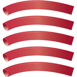 5 Pack Red 3/4 Inch X 48 Inch 31 Heat Shrink Tubing With Sealant For Boats