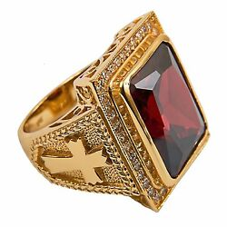 New Mens Clergy Apostle Ring Subs710r Gold Plated/sterling Silver Christian