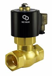 1 Inch Brass High Pressure Electric Steam Solenoid Valve 12v Dc Normally Closed