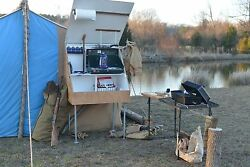 Custom Eco Friendly Camp Kitchen, Stove, Grill, Everything At Your Fingertips
