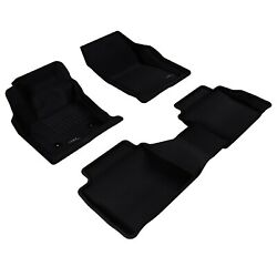 3d Maxpider Custom Fit Kagu Black 1st/2nd Row Floor Liners For Ford Fusion