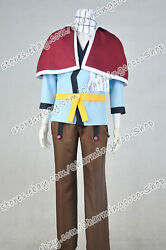 Fairy Tail Cosplay Etherious Natsu Dragneel Costume Uniform Best For Halloween
