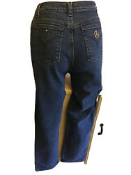 Lovely Ladies Dk Blue Moschino Jeans Size 30 Measures 27andrdquo Waist High Rise 11andrdquo