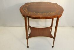 Gorgeous Inlaid Marquetry Maple And Rosewood Center Table, 19th C.