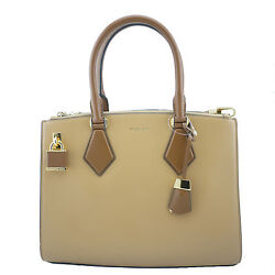 Casey Large Satchel Peanut Brown Nwt Authentic
