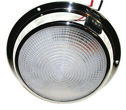 Dr. Led 6 3/4 Inch Marine Led Dome Light Chrome Warm White 12v 24v