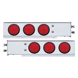 Spring Loaded Rear Bar W Six 4 Round Red Incandescent Light - 2 Bolt Pattern